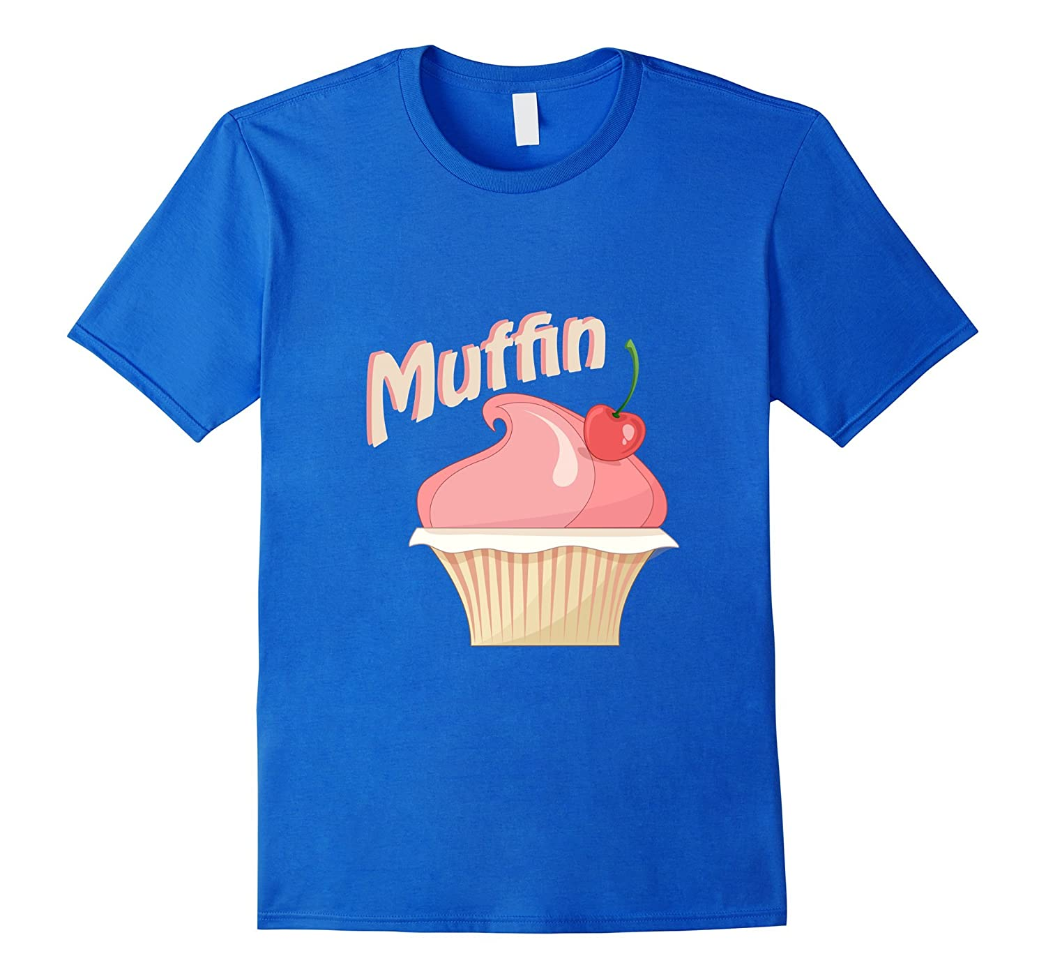 Cute Pink Muffin With Cherry T-Shirt