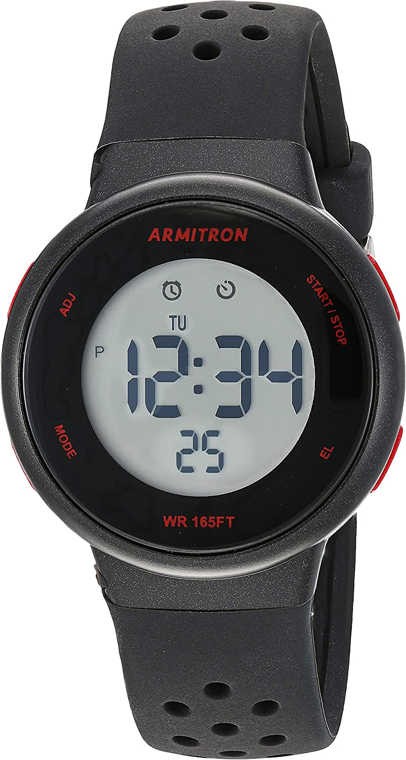 Armitron Sport Unisex Digital Chronograph Interchangeable Silicone Strap Watch