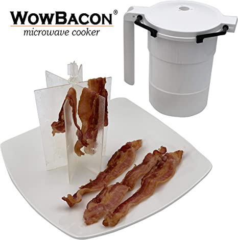WowBacon Microwave Cooker NEW P6 - Improved Again!!!- Cooks Pork, Turkey, Chicken and Beef Bacon