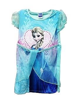 Disney Vestido Tutú Chicas Princesa Fiesta Elsa Congelado Azul Turquesa 3-4 Años