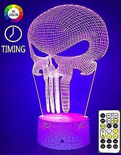 Amazon.com: Lámpara de noche con ilusión 3D, lámpara de ...