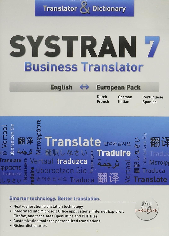 amazon com systran 7 business european full version systran 7 business european full version