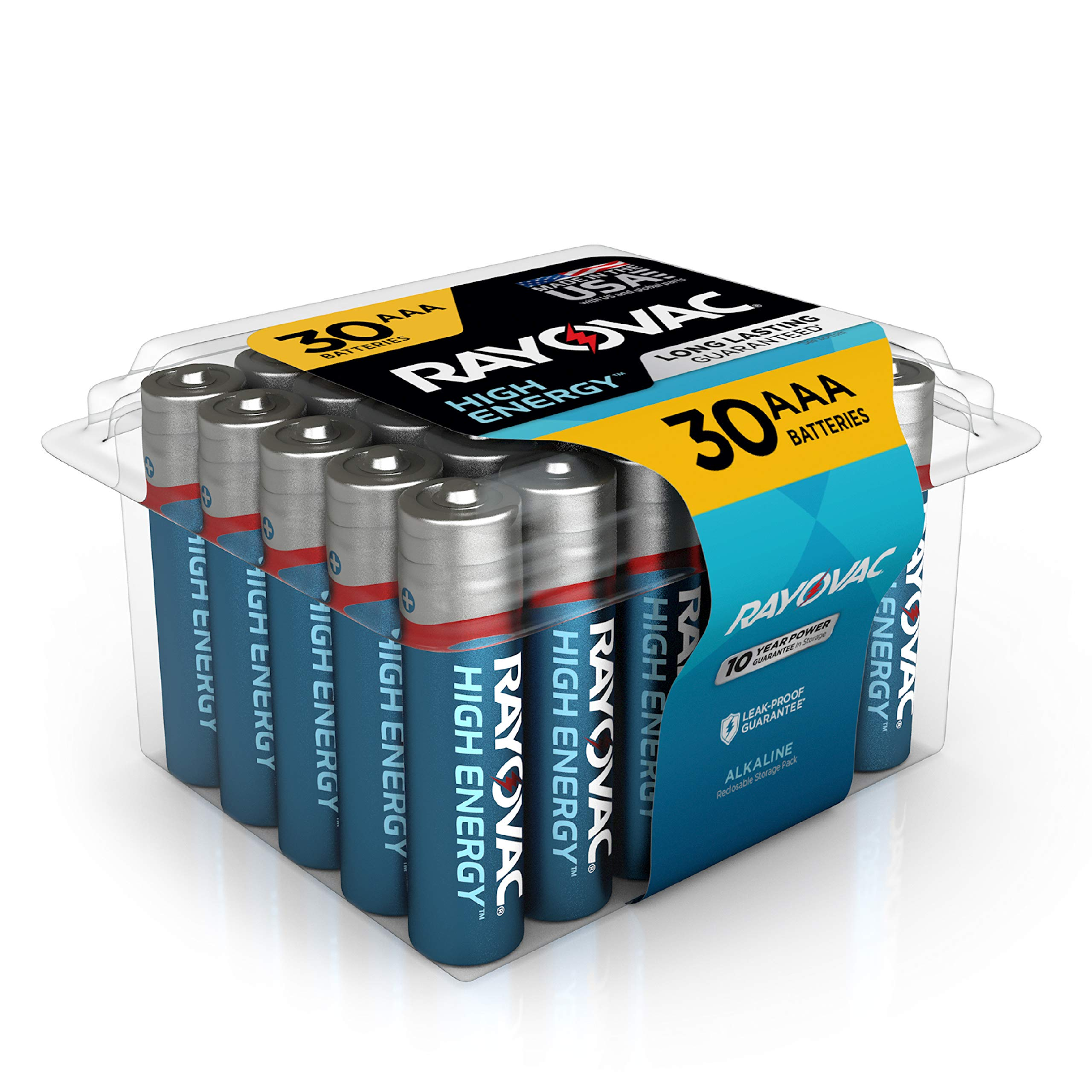 Rayovac AAA Batteries, Alkaline Triple A Batteries (30 Battery Count)