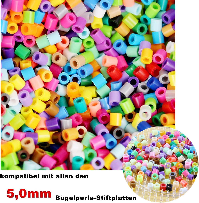 /À partir de 6 ans Perles /à enfoncer 5 mm Perles /à repasser Lot de 9 600 perles /à repasser 48 couleurs Perles de s/écurit/é Pour bricolage