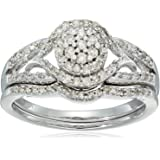 Sterling Silver Diamond Fashion Ring (1/2 cttw