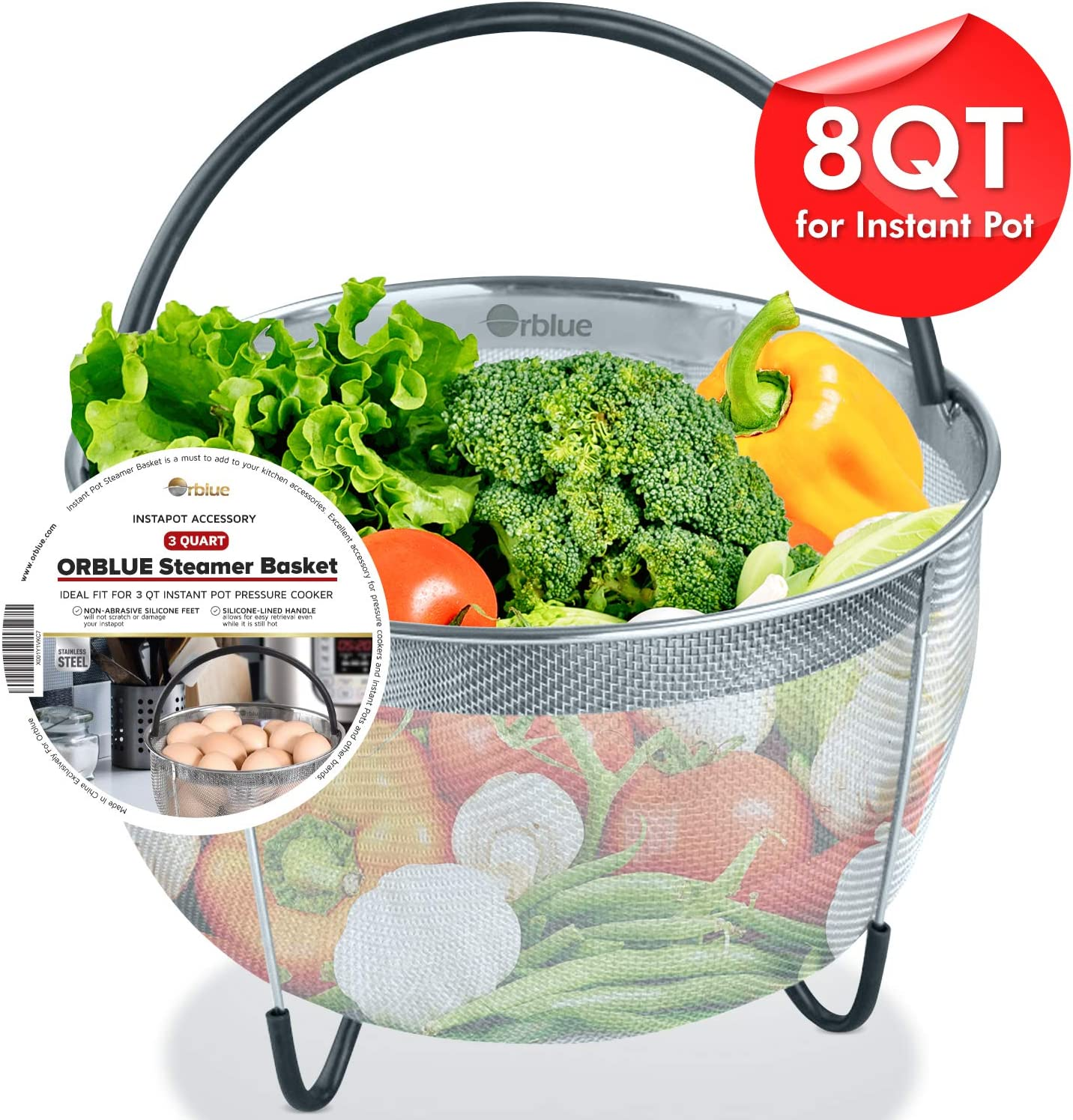 Silicone Vegetable Steamer Basket For Instant Pot Electric Pressure Cooker Non-scratch Veggies Steamer Insert Instant Pot Must-have Accessory