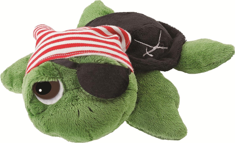 Suki Gifts Li'l Peepers Pirate Turtle Soft Boa Plush Toy (Small, Green) 14184