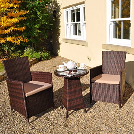 Excellent Rattan 2 Seater Bistro Garden Patio Conservatory Set Amazon Dailytribune Chair Design For Home Dailytribuneorg