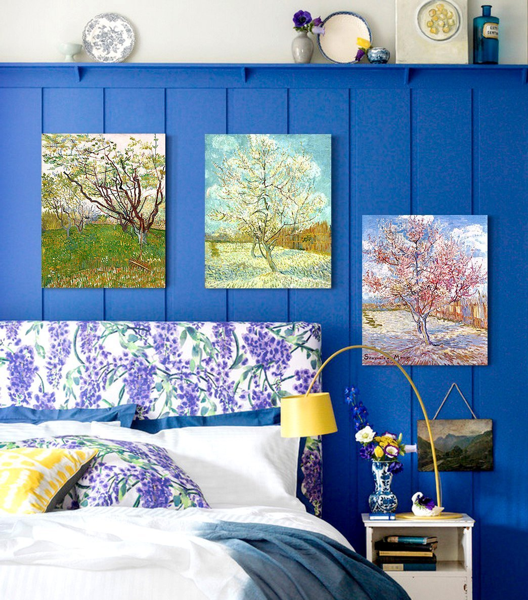 DecorArts Triptych Orchard Blossom Reproduction Image 2