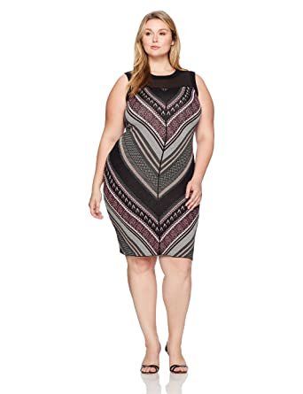 7732372c751 RACHEL Rachel Roy Women s Plus Size Lurex Chevron Sweater Dress at Amazon Women s  Clothing store