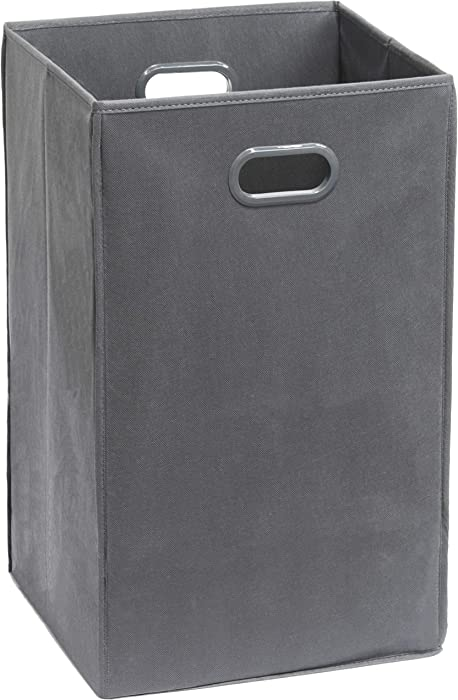 Simple Houseware Foldable Closet Laundry Hamper, Dark Grey
