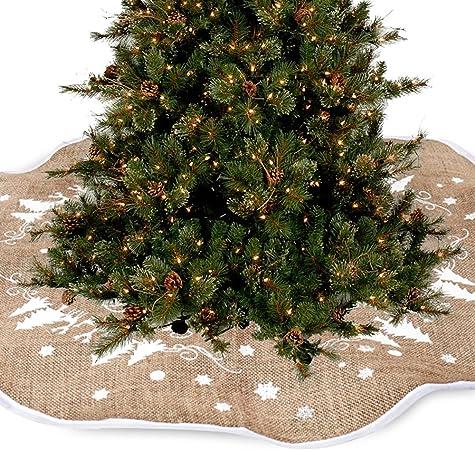 Albero Di Natale Juta.Coperta Decorativa In Iuta Per Base Di Albero Di Natale 122 Cm Amazon It Casa E Cucina