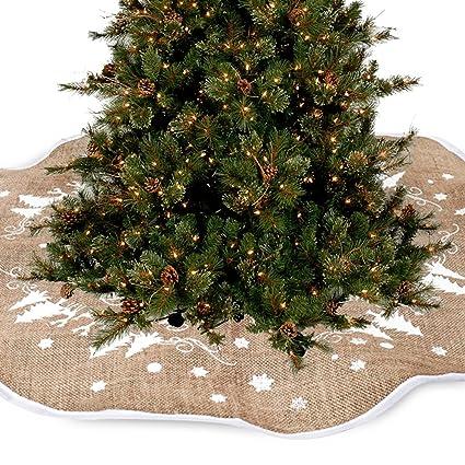 7029d079c0 Coperta decorativa in iuta per base di albero di Natale, 77cm ...