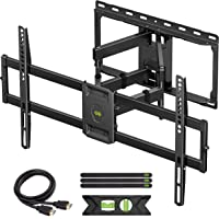 USX MOUNT Full Motion TV Wall Mount for Most 47-84 inch Flat Screen/LED/4K TVs, TV Mount Bracket Dual Swivel…