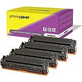 CF210A-CF213A LOT de 4 compatibles toner cartouches pour HP LaserJet Pro 200 Color M251n, M251nw, MFP M276n, MFP M276nw imprimantes