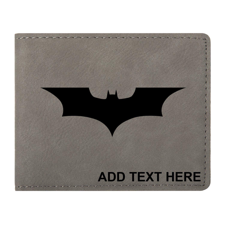 Personalized Engraved Batman Dark Knight Vegan Leather Bifold Wallet