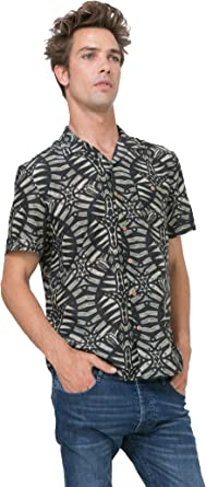 Desigual - Camisa casual - para hombre 2000 M: Amazon.es: Ropa y accesorios