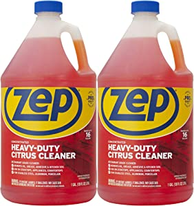 Zep Heavy-Duty Citrus Cleaner and Degreaser 128 Ounce ZUCIT128CA (Case of 2) Concentrated Pro Formula