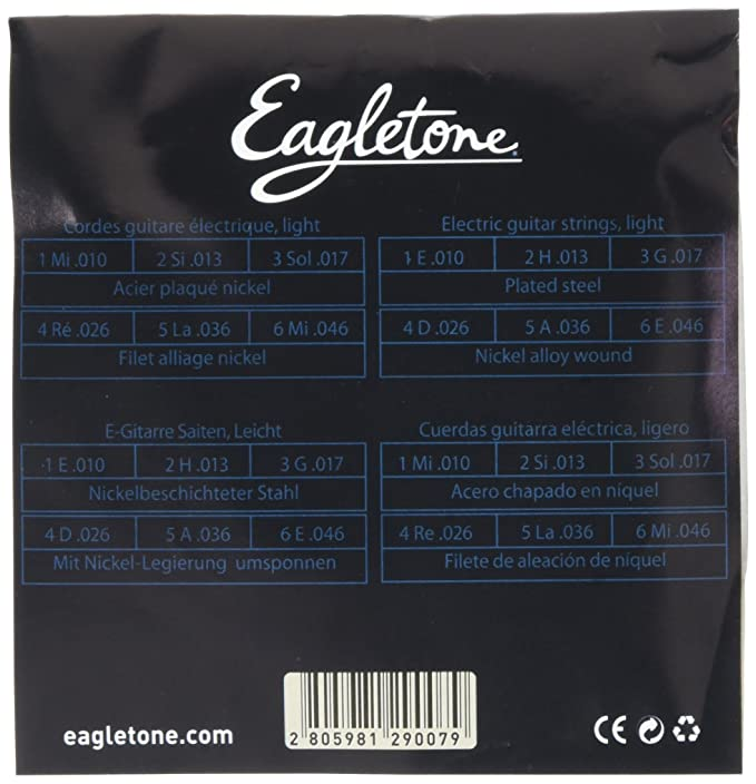 Amazon.com: Eagletone ES 10-46 Electric guitar strings light 10-46: Musical Instruments