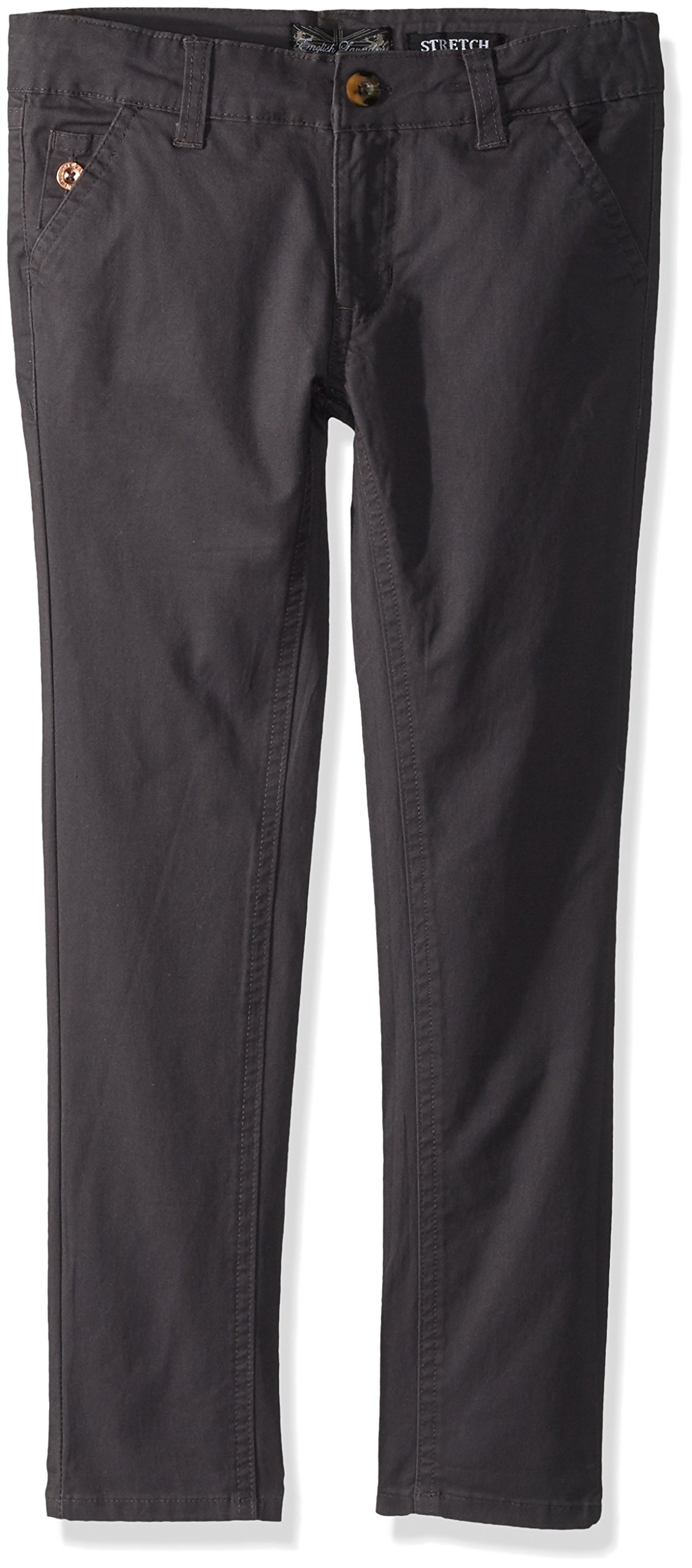 English Laundry Little Boys' Stretch Twill Pant (More Styles Available), Charcoal, 5