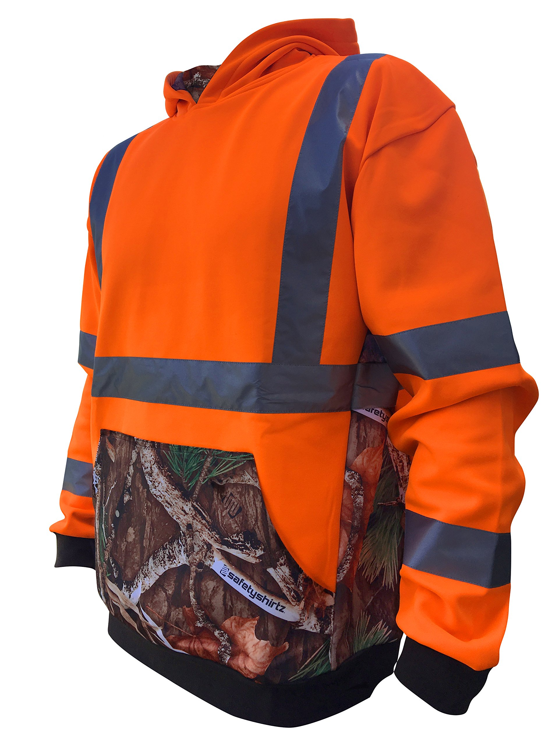 SafetyShirtz SS360 Deepwoods Camo Safety Hoody ANSI Class 3 S by SafetyShirtz