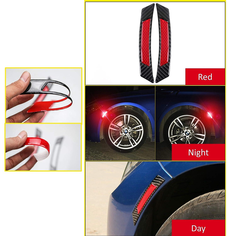 3D Reflective Tape Caution Warning Safety Reflector Sticker Orange