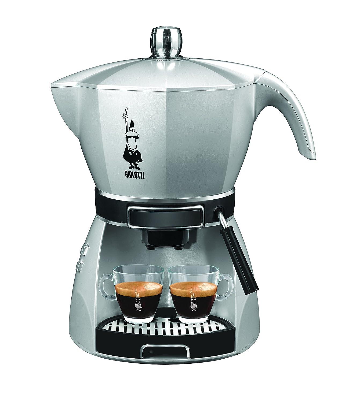 Bialetti 12431002 - Cafetera de espresso manual, 0,8 l, 2 tazas, color plateado