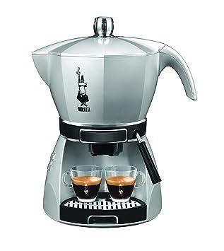 Bialetti 12431002 - Cafetera de espresso manual, 0,8 l, 2 tazas, color plateado: Amazon.es: Hogar