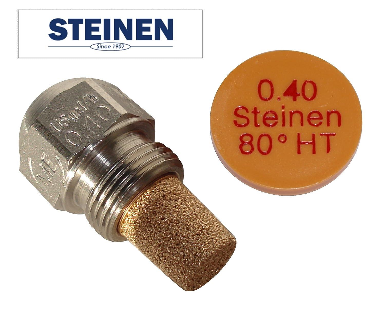 Steinen ugello per bruciatori a gasolio, 0.4 USgal/h, angolo di spruzzo (polverizzazione) 80° , tipo HT angolo di spruzzo (polverizzazione) 80°