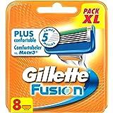 Gillette - Fusion - Lames De Rasoir Pour Homme - 8 Recharges