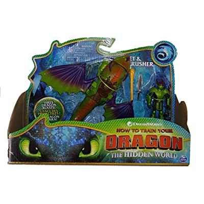 Dreamworks Dragons, Eret and Skullcrusher, Dragon with Armored Viking Figure, for Kids Aged 4 and Up: Toys & Games