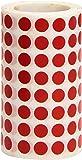 Apli 4853 - Rollo de pegatinas redondas, 10.5 mm, color rojo