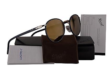 779ccffd01d43 Amazon.com  Persol PO2422SJ Sunglasses Blue Brown w Brown Mirror ...