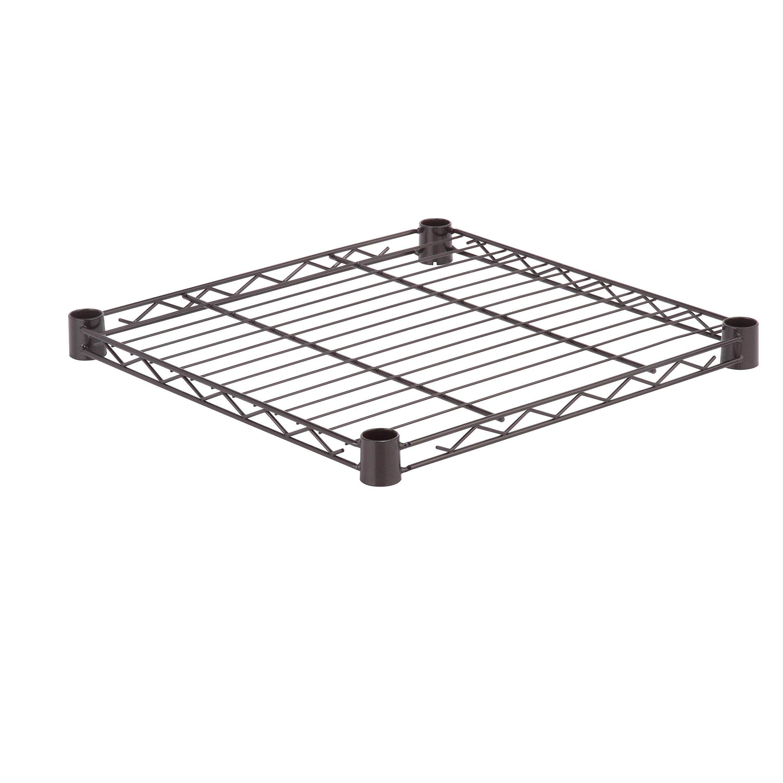 Honey-Can-Do SHF350B1818 Steel Wire Shelf for Urban Shelving Units, 350lbs Capacity, Black, 18Lx18W