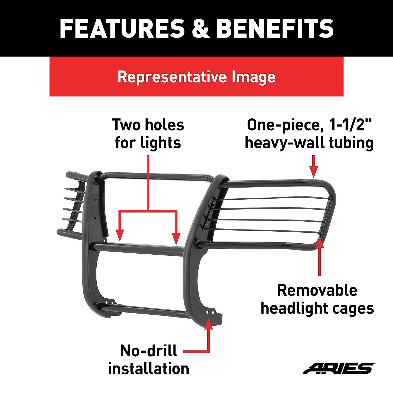 ARIES 2065 1-1//2-Inch Black Steel Grill Guard Select Toyota RAV4