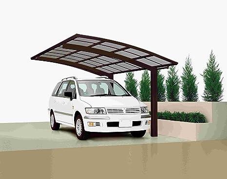 XIMAX Aluminium Design-Carport Portoforte Standard-Ausführung Typ 80  Mattbraun