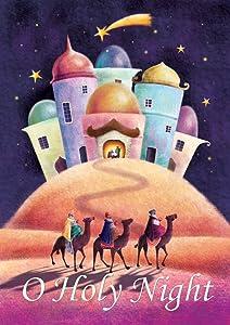 Toland Home Garden Holy Night 12.5 x 18 Inch Decorative Winter Christmas Faith Nativity Religious Garden Flag