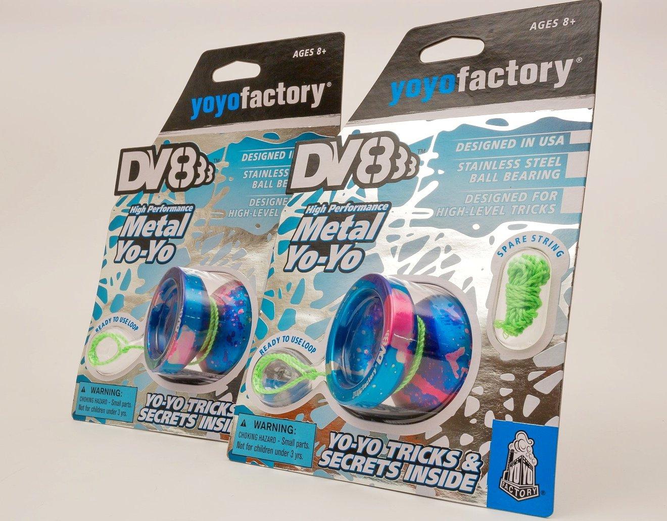 YoYoFactory DV888 Ball Bearing Matal - Galaxy Acid Wash by YoYoFactory