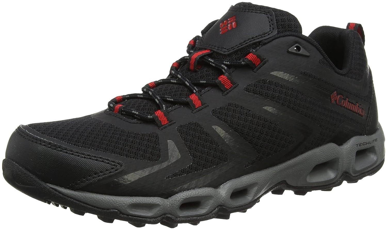 Columbia Ventralia 3 Low, Zapatillas de Senderismo para Hombre 40.5 EU|Negro (Black / Mountain Red 010)