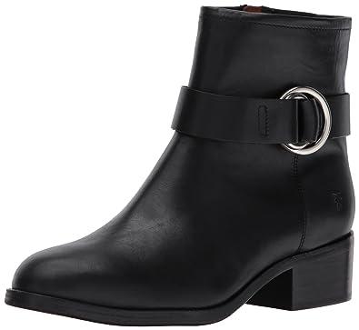 FRYE Women's Kristen Harness Short Boot, Black Smooth Antique Pull up, ...