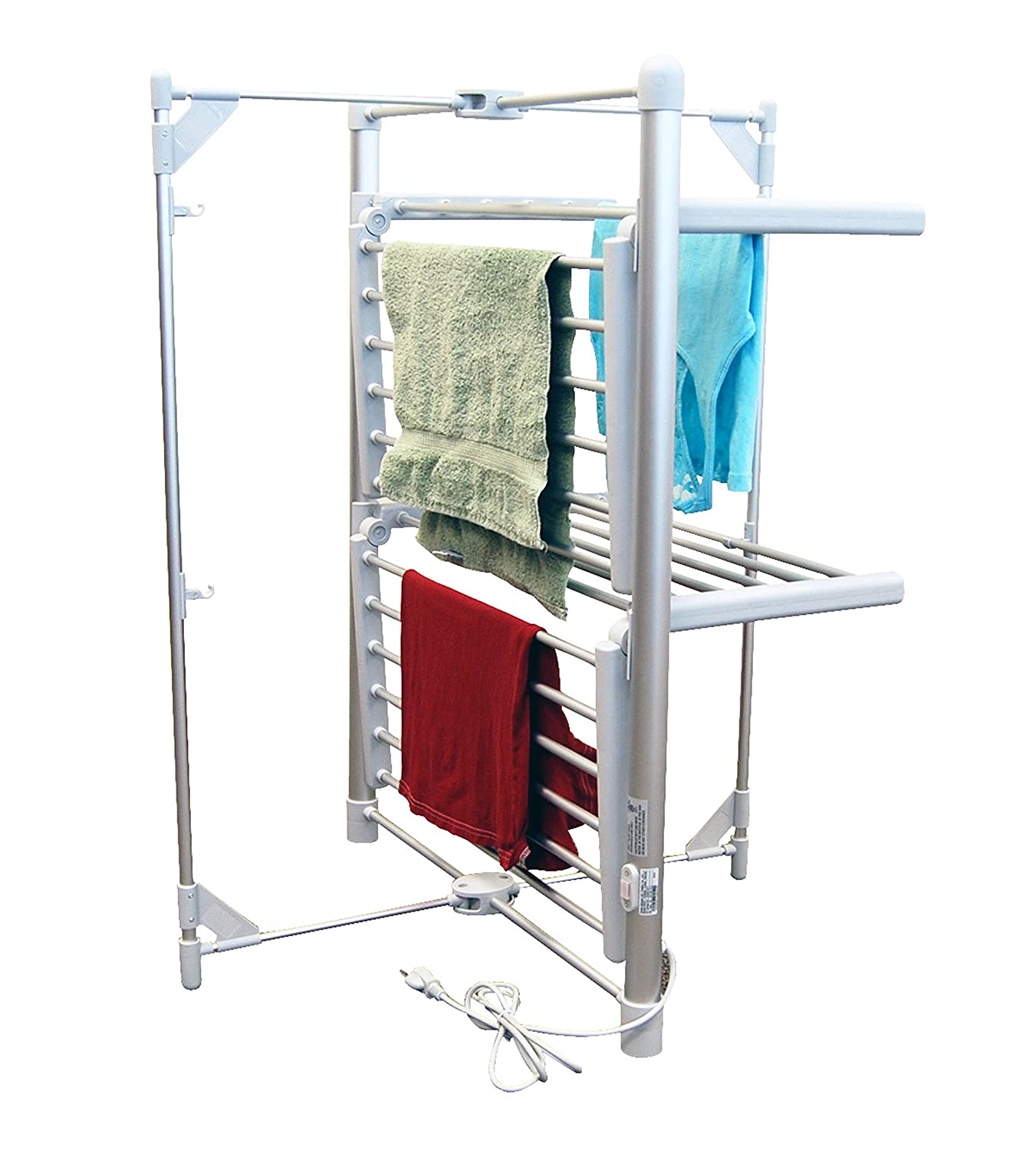 LCM Home Fashions 2-Tier Heated Drying Rack Tower Warmer Inc. PA005