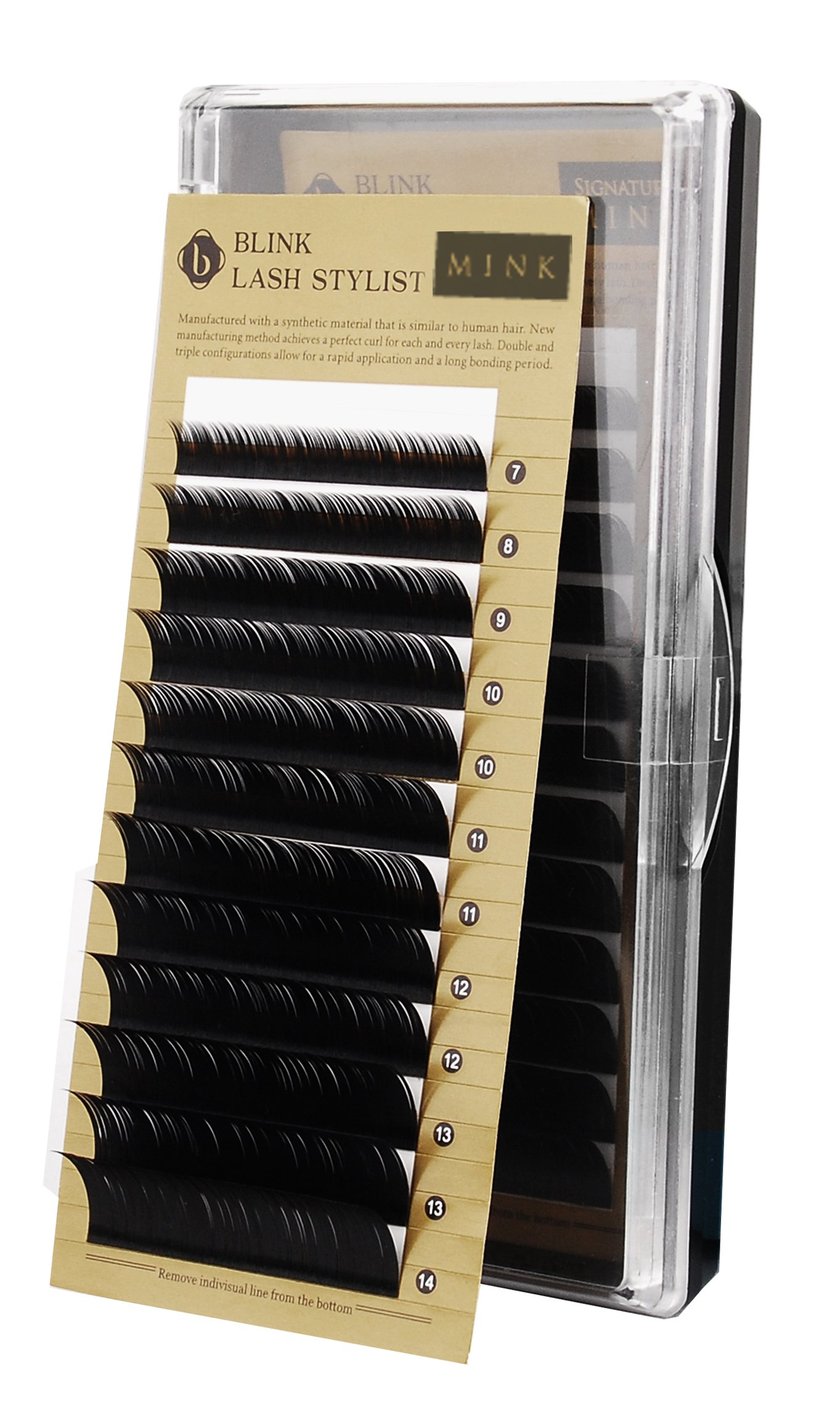 478ff51981c Amazon.com : Eyelash Extension Blink Signature Mink Lash D Curl 0.15 x  (7~14mm), 8 Sizes in 1 Mixed Tray (DX0.15) : Beauty