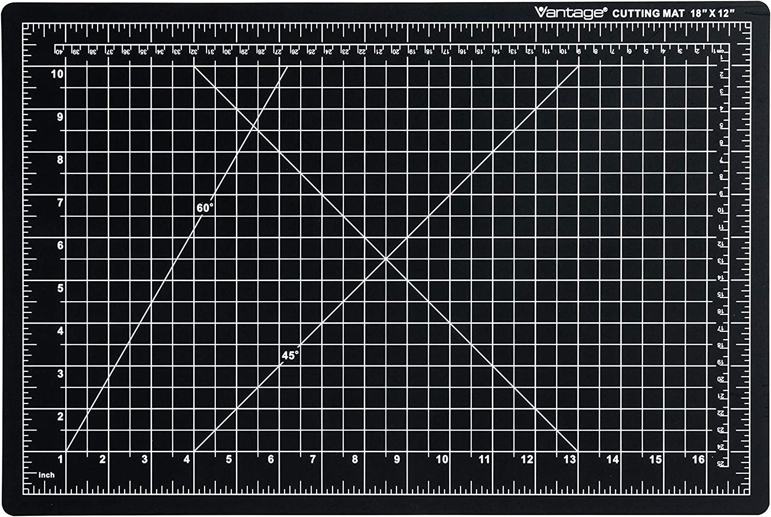 Black 5 Layers for Max Healing 1//2 Grid 9x12 Perfect for Crafts /& Sewing Dahle Vantage 10670 Self-Healing Cutting Mat