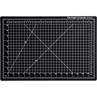 """Dahle Vantage 10671 Self-Healing 5-Layer Cutting Mat Perfect for Crafts and Sewing 12"""" x 18"""" Black Mat"""