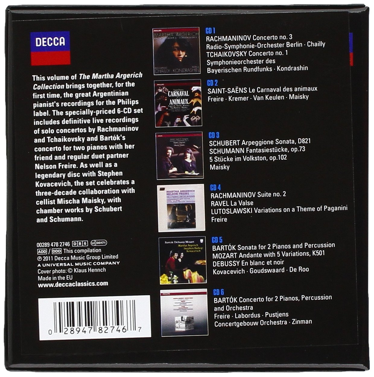 The Martha Argerich Collection 4 [6 CD Box Set] by Decca