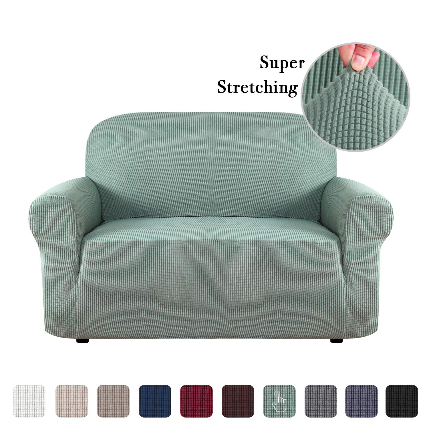 Fine Flamingo P One Piece Loveseat Slipcover Stylish Furniture Cover Protector Stay In Place With Spandex Stretch Durable Fabric Dark Cyan Loveseat Forskolin Free Trial Chair Design Images Forskolin Free Trialorg