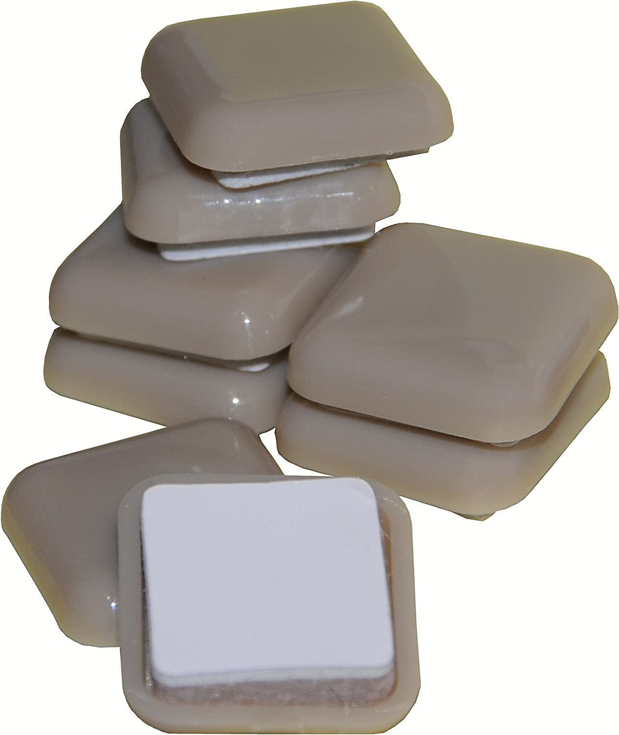 Heavy Duty -1 Square Quality Sliders Unmatched Surface Protection 8 Pack Great Fit-Fuzz Free- Refreshingly Quiet Beige Self-Stick Furniture Sliders//Movers