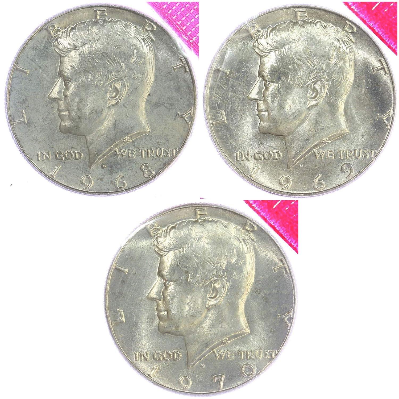 1970 D Kennedy Half Dollar 40/% Silver BU US Coin