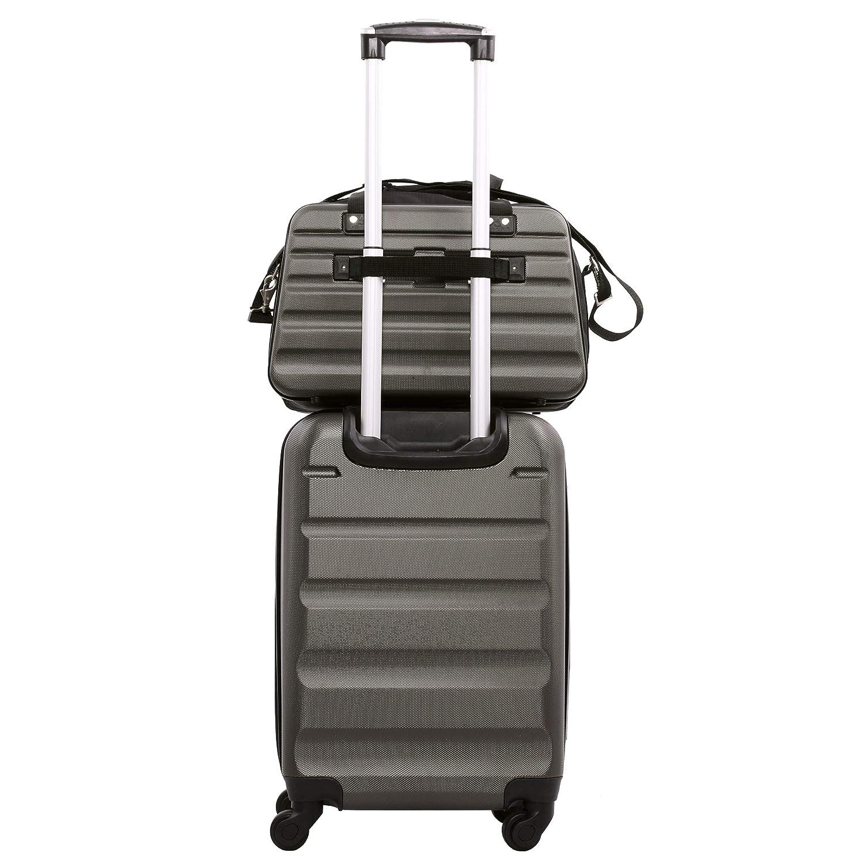 Aerolite Taille Maximum Ryanair 40x20x25cm Approuv/é Bagage Main Cabine Coquille Dure Voyage Fourre-Tout /Épaule sous Le si/ège Sac de vol 40x20x25 Charbon