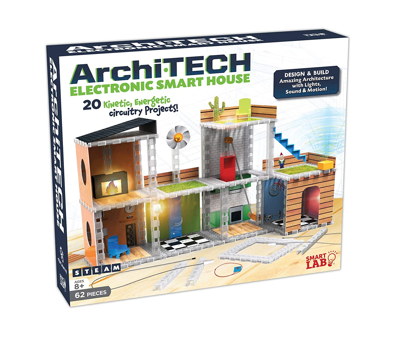 Smartlab Toys Sl306050 Archi Tech Electronic Smart House Buy Elenco Snap Circuits Green Alternative Energy Kit Online At Low 62 Piece 16 X 10 9 Multicolor Games